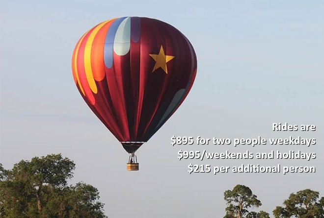 Private Hot Air Balloon Charters Nav
