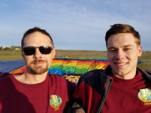 Aaron & Brisco - crew chiefs for Skydrifters hot air balloons
